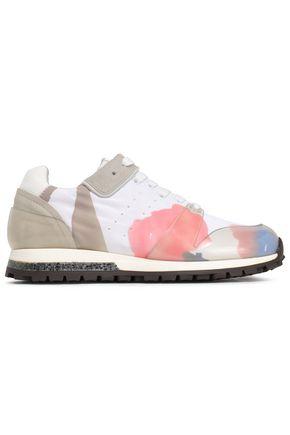 ACNE STUDIOS Joriko suede-trimmed printed shell sneakers