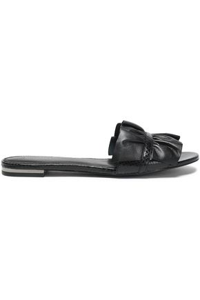 MICHAEL MICHAEL KORS Ruffled leather slides