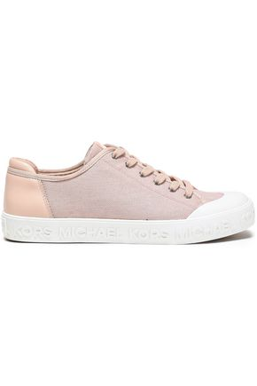 MICHAEL MICHAEL KORS Leather-trimmed canvas sneakers