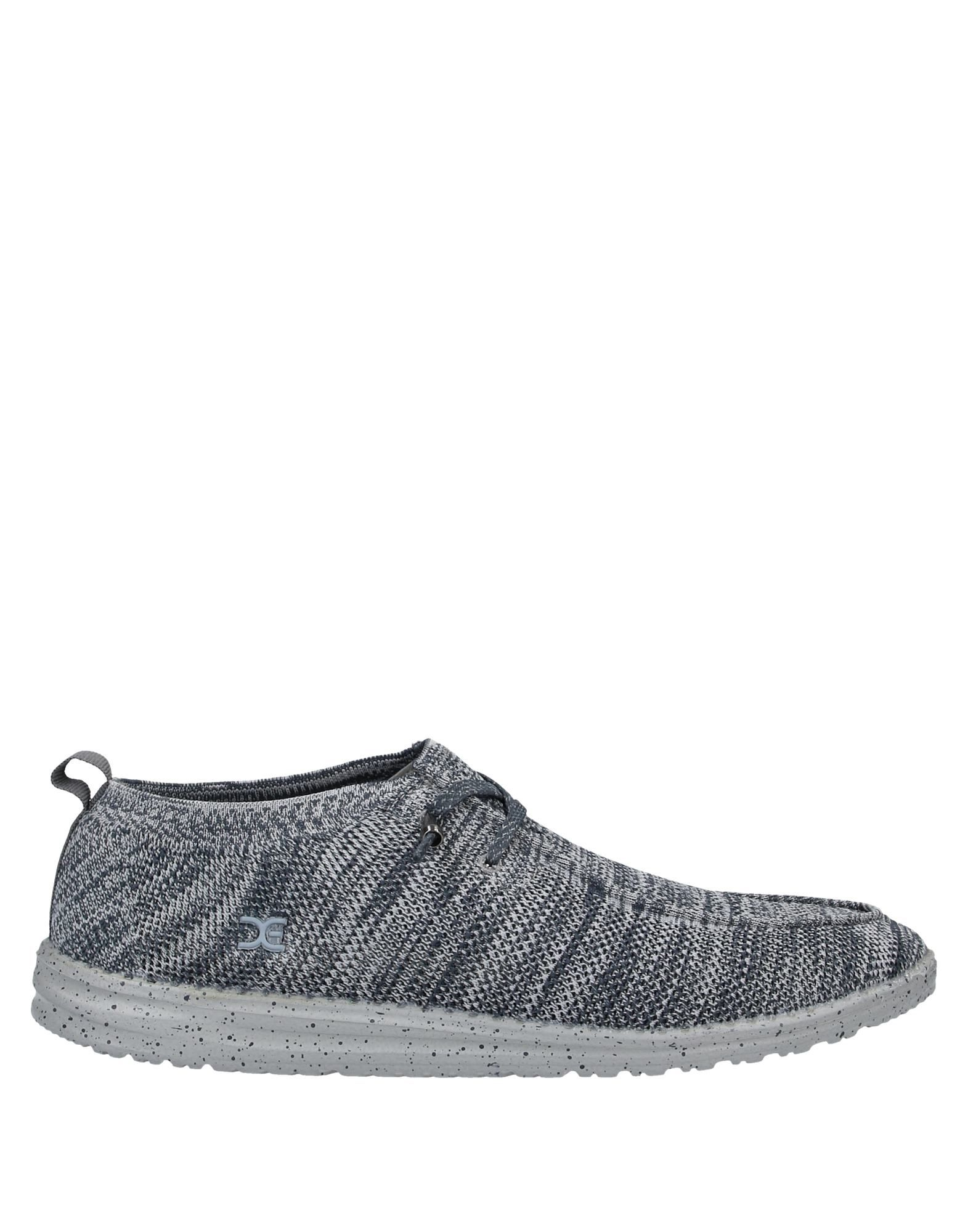 《送料無料》HEY DUDE メンズ スニーカー&テニスシューズ(ローカット) グレー 40 紡績繊維