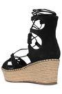 SCHUTZ Tasseled suede platform espadrille sandals