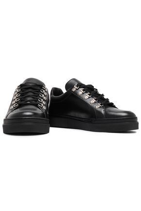 BALMAIN Leather slip-on sneakers