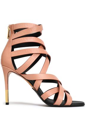 733bbd6ddd8d BALMAIN Leather sandals