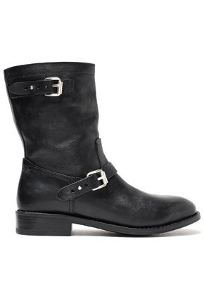 RAG & BONE Buckled leather boots