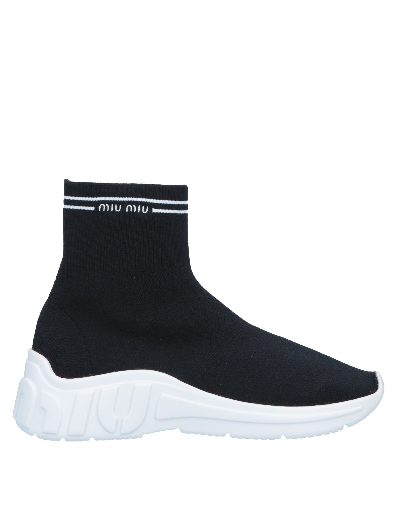 MIU MIU Высокие кеды и кроссовки