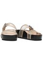 RAG & BONE Buckled leather-trimmed mesh platform slides