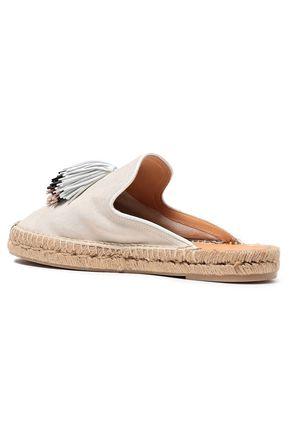 RAG & BONE Nadia tasseled suede espadrille slippers