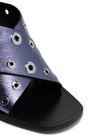 RAG & BONE Eyelet-embellished metallic leather mules