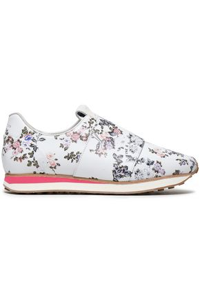 RAG & BONE Floral-print leather slip-on sneakers