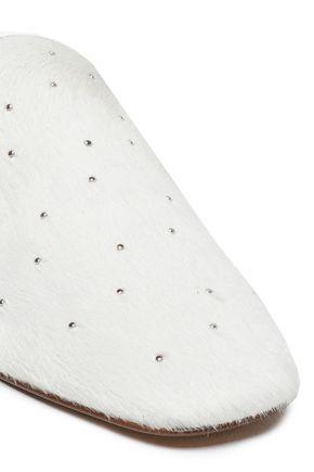 RAG & BONE Studded calf hair slippers