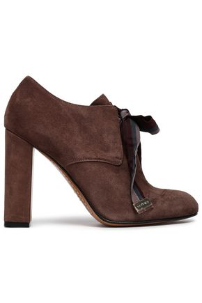 ETRO Grosgrain-trimmed suede ankle boots
