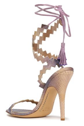 ETRO Tasseled elaphe sandals