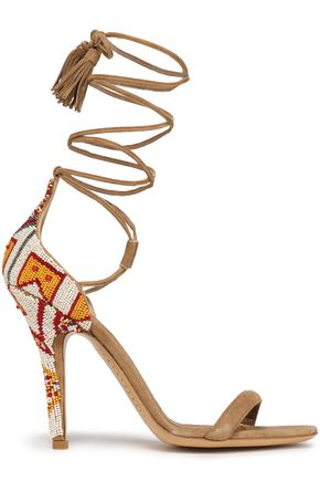 ETRO Bead-embellished suede sandals