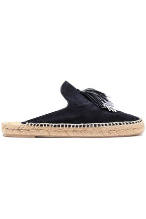 RAG & BONE Tasseled suede espadrille slippers