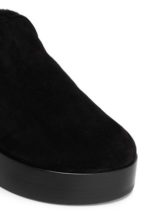 RAG & BONE Shearling platform slippers