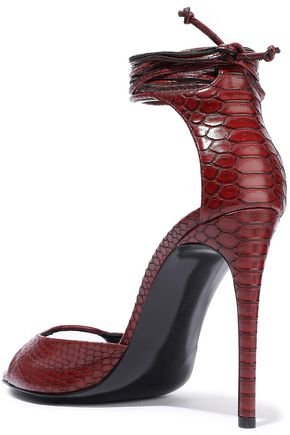 STELLA McCARTNEY Snake-effect faux leather sandals