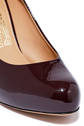 SALVATORE FERRAGAMO Patent-leather platform pumps