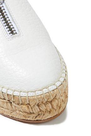 ALEXANDER WANG Devon textured-leather espadrilles