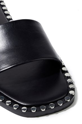 ALEXANDER WANG Lola studded leather slides
