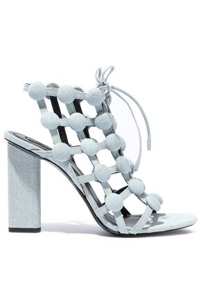 ALEXANDER WANG Rubie studded denim sandals
