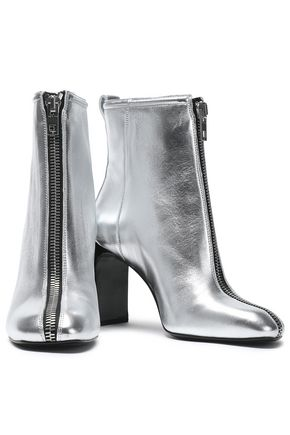 RAG & BONE Metallic leather ankle boots