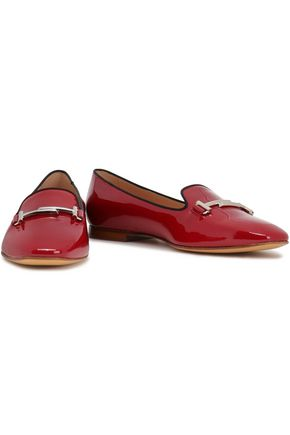 TOD'S Embellished patent-leather loafers