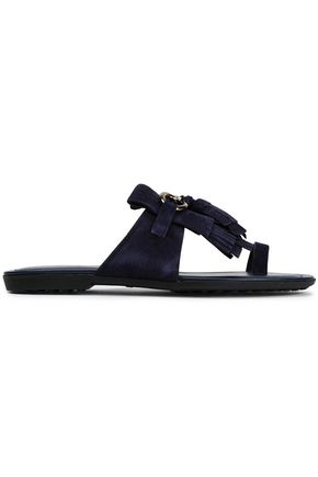 TOD'S Tasseled suede sandals