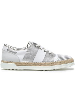 TOD'S Metallic leather sneakers