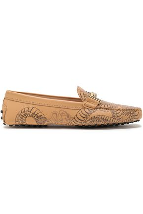 TOD'S Printed leather loafers