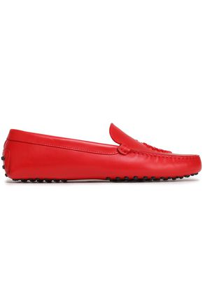 TOD'S Studded leather moccasins