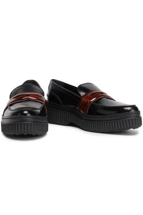 TOD'S Glossed-leather loafers