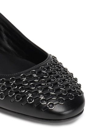 TOD'S Ring-embellished leather ballet flats