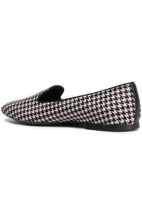 TOD'S Houndstooth calf hair loafers