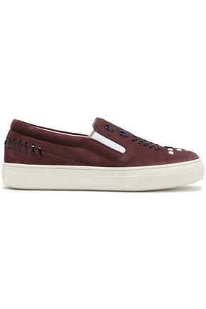 TOD'S Studded suede slip-on sneakers