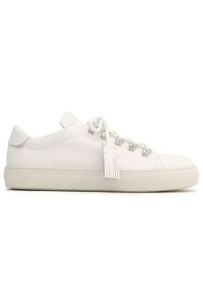 TOD'S Embellished leather sneakers