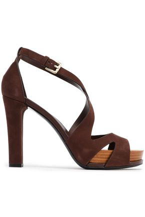 TOD'S Cutout suede sandals