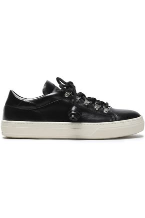 TOD'S Tasseled leather sneakers