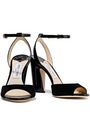 JIMMY CHOO Miranda 100 patent-leather and suede sandals