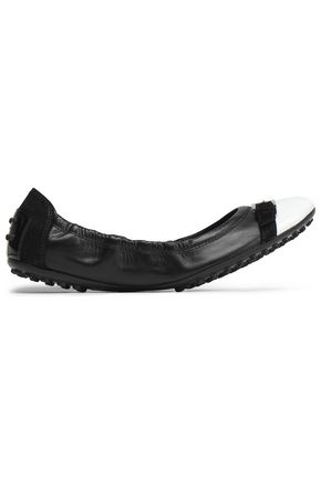 TOD'S Two-tone leather ballet flats