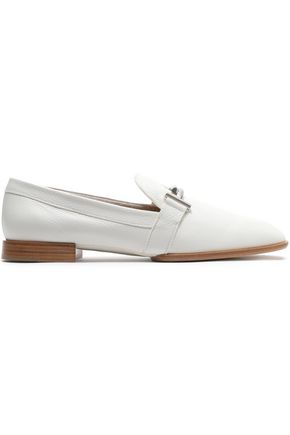 TOD'S Embellished leather loafers