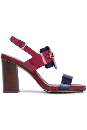 TOD'S | Tod'S Two-Tone Patent-Leather Sandals | Goxip