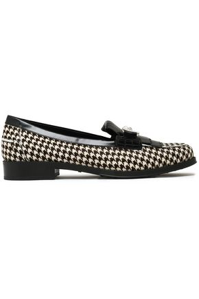 0ebfe50954b TOD S Glossed leather-trimmed houndstooth calf hair loafers