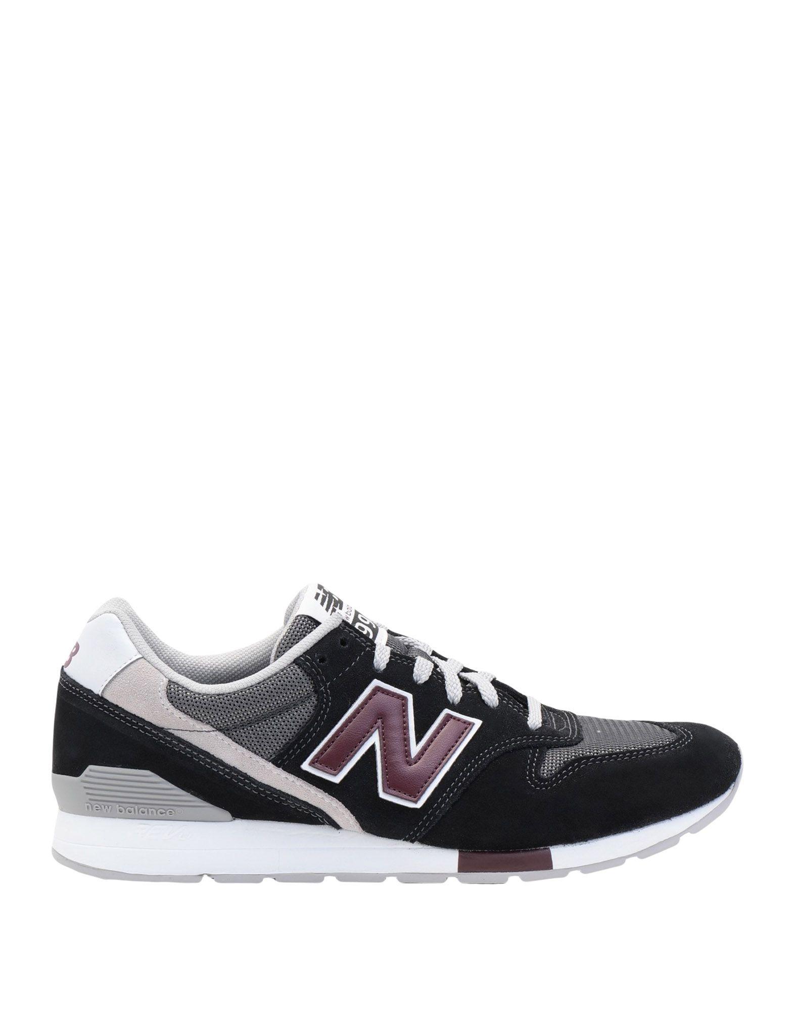 《セール開催中》NEW BALANCE メンズ スニーカー&テニスシューズ(ローカット) ブラック 7 革 / 紡績繊維 996