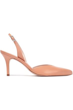 STUART WEITZMAN Color-block leather slingback pumps
