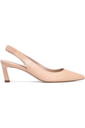 STUART WEITZMAN Leather slingback pumps