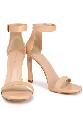 STUART WEITZMAN Textured lamé sandals