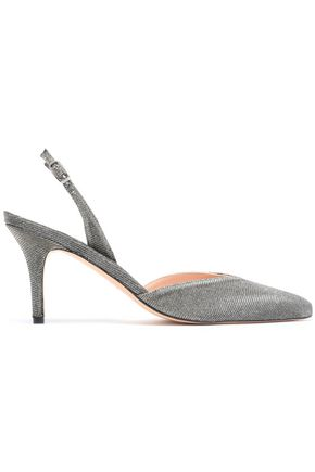 STUART WEITZMAN Patent-leather slingback pumps