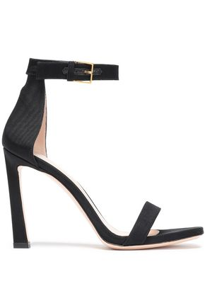 STUART WEITZMAN Cutout faille sandals