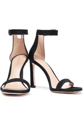 STUART WEITZMAN Cutout faille sandals