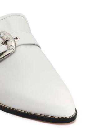 STUART WEITZMAN Embellished leather mules